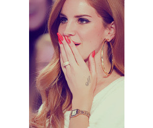 beautiful, red, and lanadelrey image