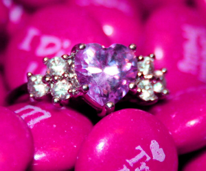 mnms, pink, and ring image