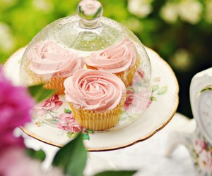 cupcakes, food, and rose image