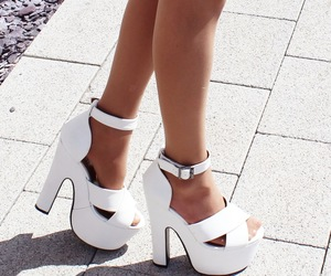 blogger, heels, and chunky image