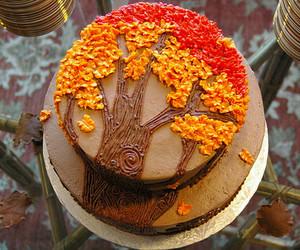 cake, fall, and autumn image
