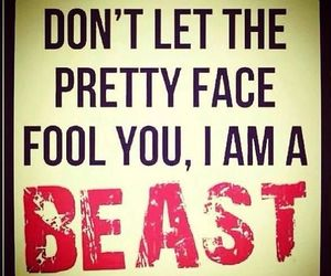 beast, pretty, and quote image