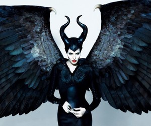 maleficent, Angelina Jolie, and black image