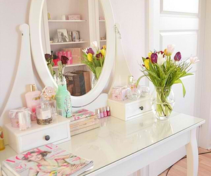 flowers, makeup, and room image