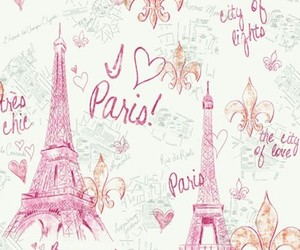 paris, pink, and wallpaper image