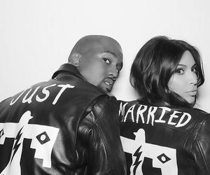 kim kardashian, kanye west, and kimye image