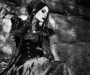 corset, dress, and gothic image