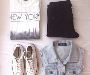 fashion, outfit, and new york image