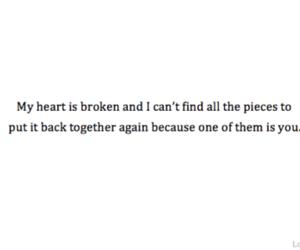 love, broken, and heart image