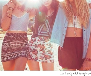 girl, fashion, and friends image