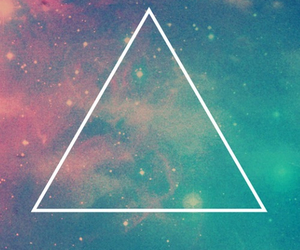 triangle, galaxy, and wallpaper image