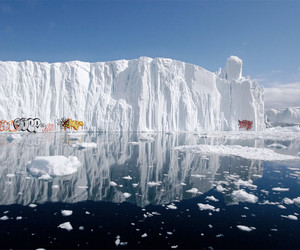 ice, iceberg, and water image