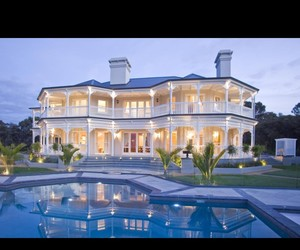 lights, mansion, and millions image