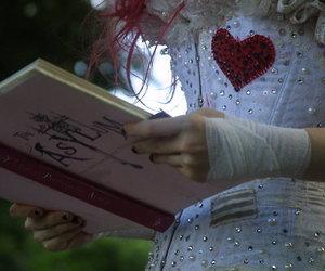 Emilie Autumn, book, and corset image