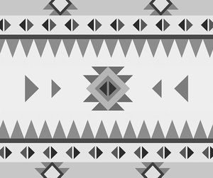 aztec, black and white, and tribal image