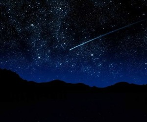 blue, galaxy, and shooting star image