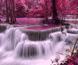 beautiful, falls, and purple image