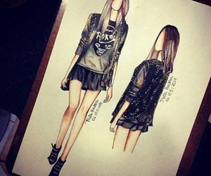 drawing, fashion, and cool image