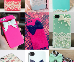 bows, cases, and iphone image