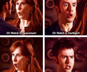 david tennant, doctor who, and donna image