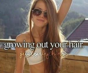 hair, summer, and long hair image