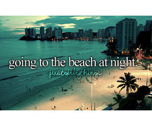 night, beach, and summer image