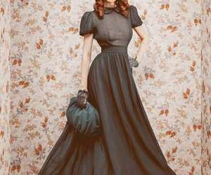 black, classic, and dresses image