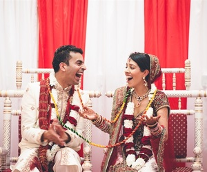 beautiful, happy couple, and indian image