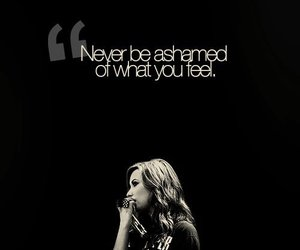 demi lovato, quote, and ashamed image