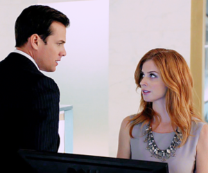 donna, harvey, and specter image