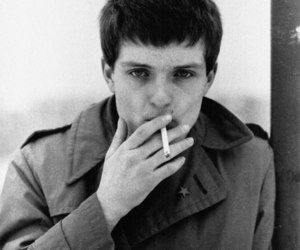 ian curtis, joy division, and smoking image