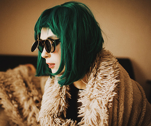alternative, green, and green hair image