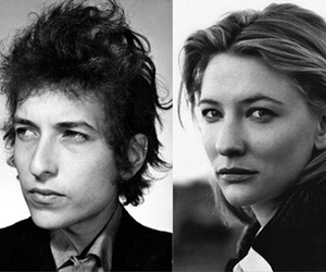 black and white, bob dylan, and cate blanchett image