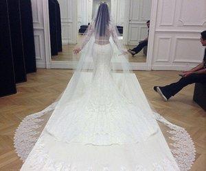 wedding, dress, and kim kardashian image