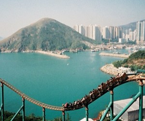 Roller Coaster, city, and rollercoaster image