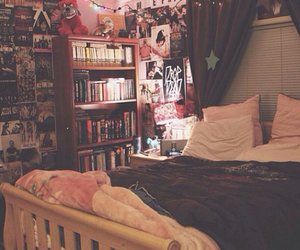 bedroom, room, and book image