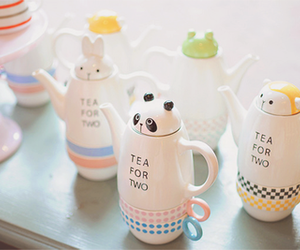 cute stuff and tea for two image