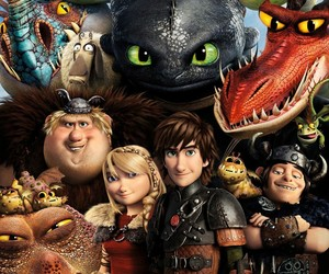 astrid, dragons, and toothless image