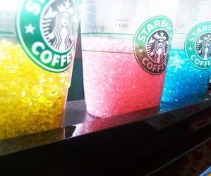 starbucks, blue, and pink image