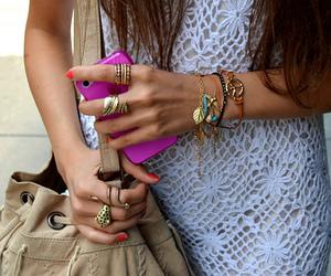 fashion, bracelet, and bag image