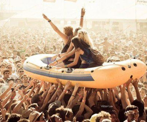 crowd surfing and fest life image