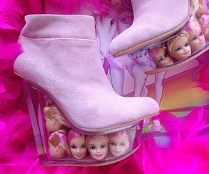 barbie, pink, and shoes image