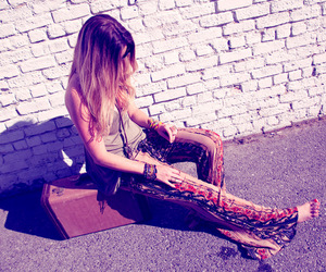 blonde, fashion, and hippie image
