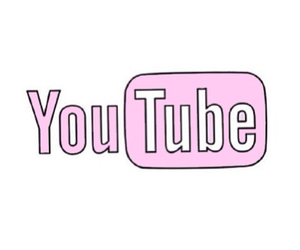 overlay, youtube, and pink image