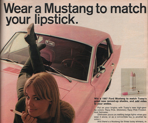mustang, vintage, and pink image