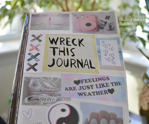 book, tumblr, and wreck this journal image