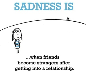 Relationship, friends, and sadness image
