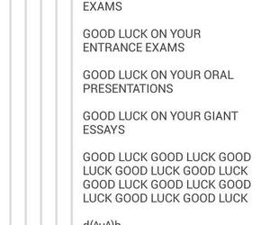 finals, funny, and good luck image