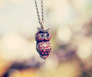 owl, pretty little liars, and jenna's pendant image