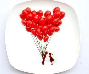love, food, and art image